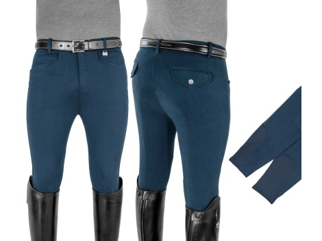Mens riding breeches Equestro - Knee pads