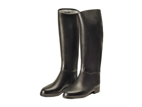 Rubber riding boots with padded lining