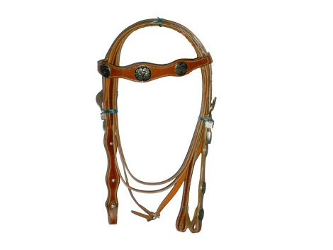 Western Leather Bridle with Reins