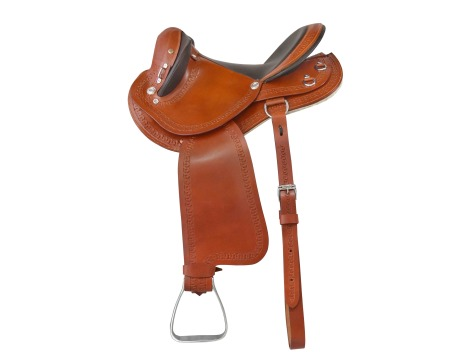 Crossbreed leather saddle