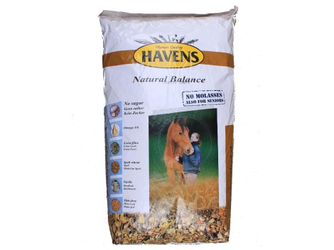 Natural Balance by Havens molasses free + oats free