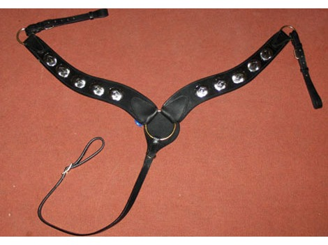 Western leather breastplate