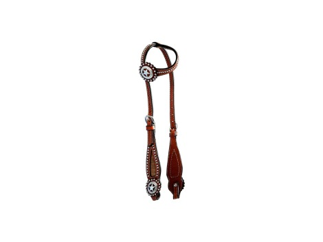 Pool's Western leather one ear bridle
