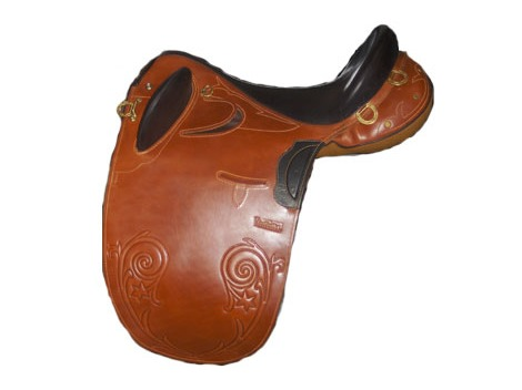 Leather Stock Saddle without horn