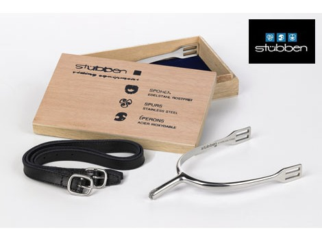 Stübben stainless steel spurs - leather spur straps included