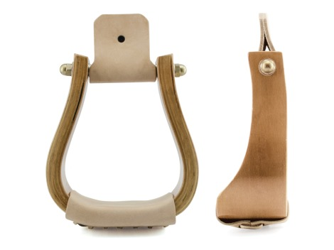 Western Metalab wooden stirrups