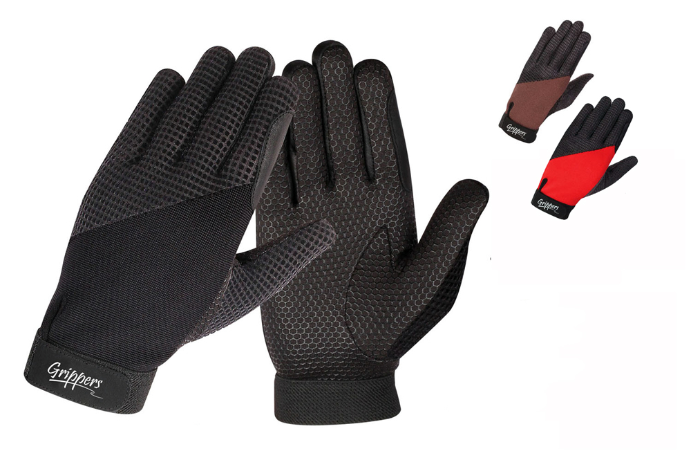 Grippers riding gloves - Silicone touch