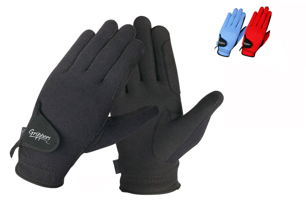 Grippers riding gloves