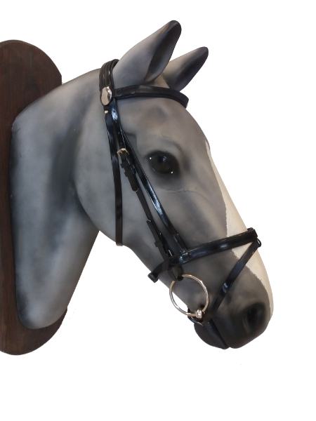English biothane bridle with rubber reins