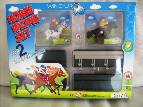 Wind up Horse Racer set