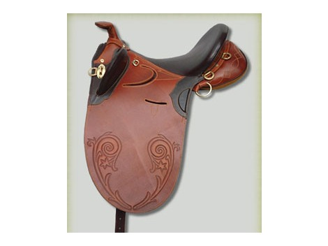 Leather Stock Saddle with horn