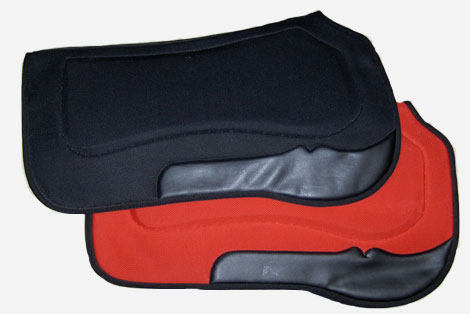 Neoprene breathable western saddle pad with felt on the inside